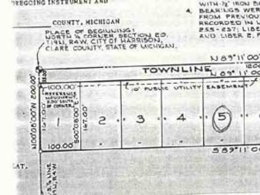 LOT 5 TOWNLINE LAKE ROAD, Harrison, MI